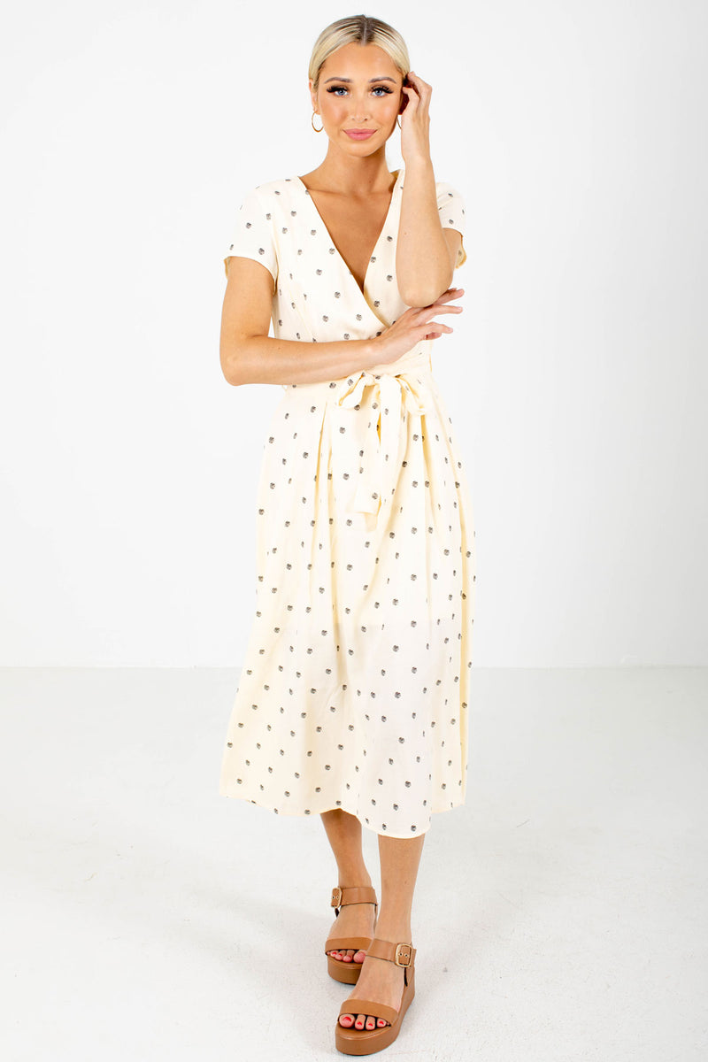 Little Cutie Polka Dot Midi Dress