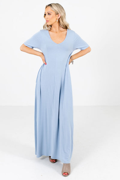 Blue Casual Everyday Boutique Maxi Dresses for Women