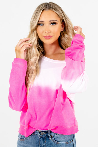 Pink Cute and Comfortable Boutique Pullovers for Women