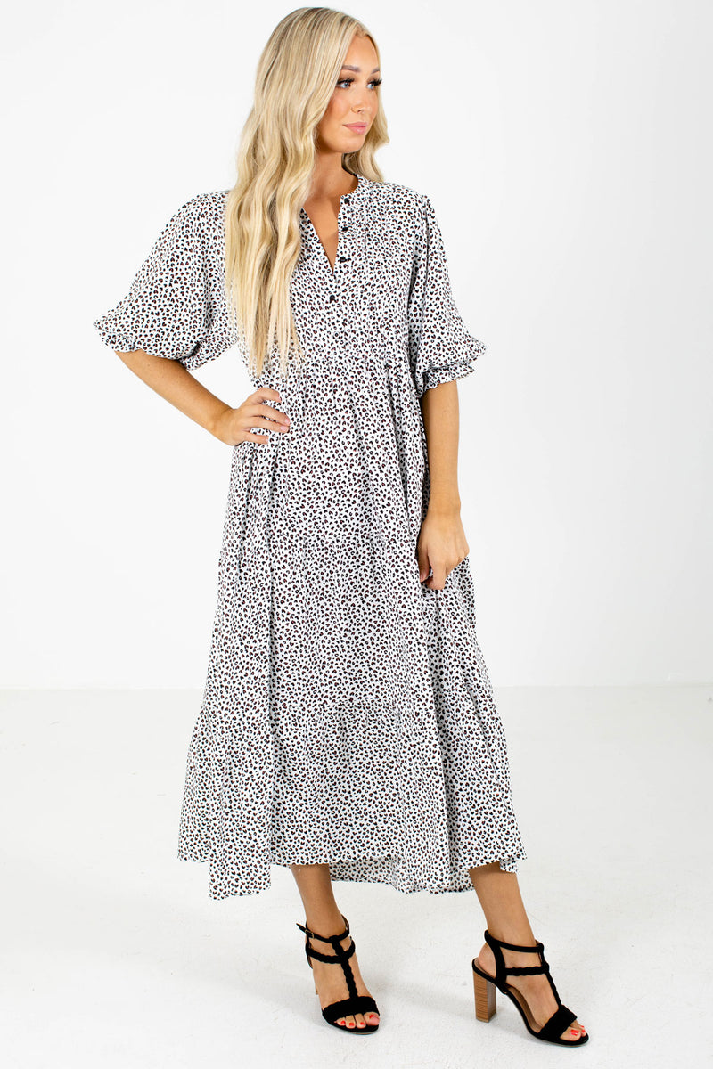 Living Wild White Patterned Maxi Dress