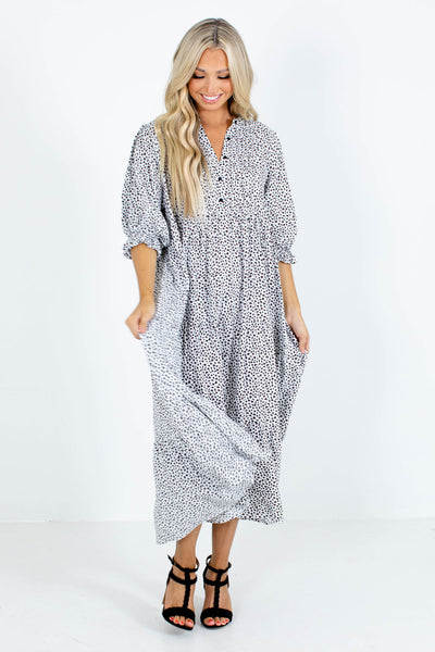 White Lightweight Material Boutique Maxi Dress
