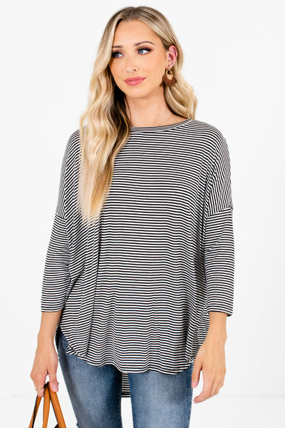 Women's Black and White Layering Boutique Tops