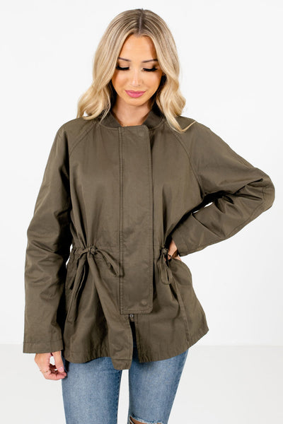 Women's Olive Green Warm and Cozy Boutique Clothing