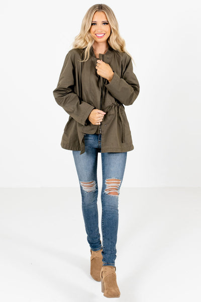 Olive Green Cute and Comfortable Boutique Jackets for Women