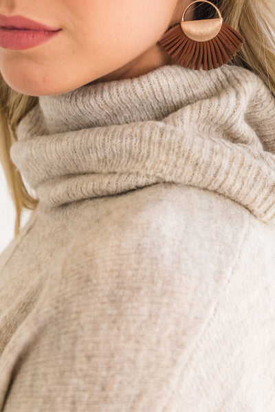 Beige Brown Soft and Cozy Sweaters for Women