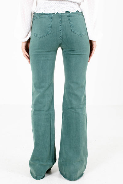 Women's Pine Green Boutique Jeans with Pockets