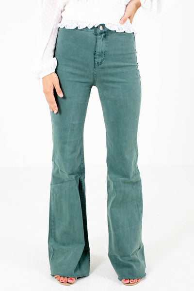 Women's Pine Green Casual Everyday Boutique Jeans