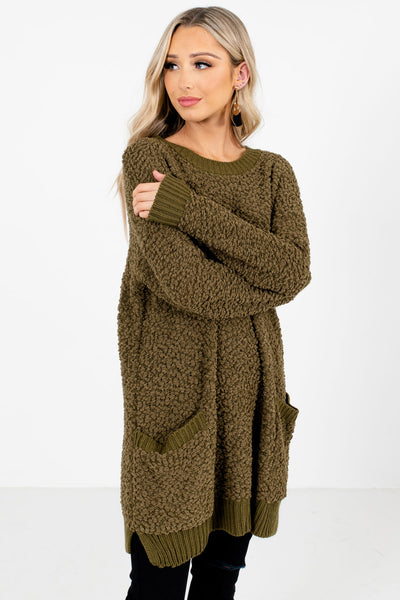 Olive Green Cute and Comfortable Boutique Clothing for Women