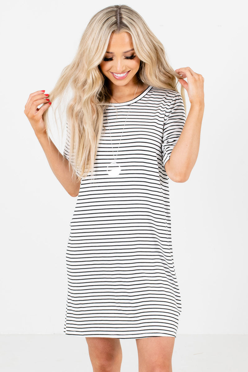 Looking for You Striped Mini Dress