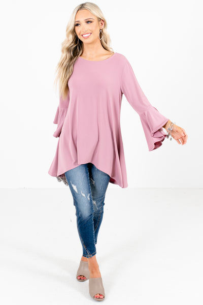 Women's Pink Business Casual Boutique Blouse