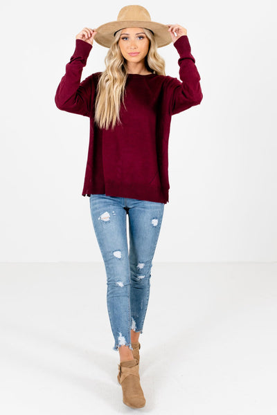 Women's Burgundy Fall and Winter Boutique Clothing