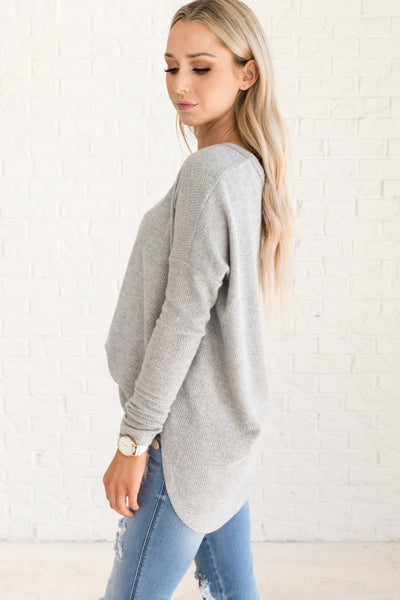 Light Heather Gray Affordable Online Boutique Clothing for Women