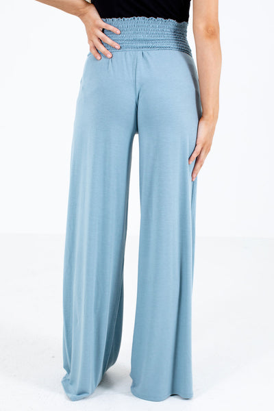 Women's Blue High-Waisted Boutique Pants
