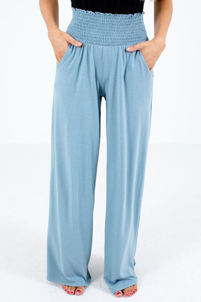 Blue Cute and Comfortable Boutique Pants for Women