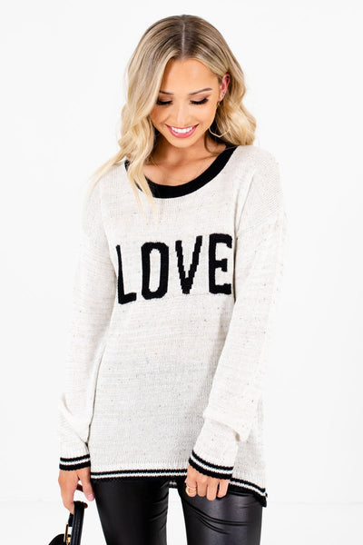 Women's Cream Warm and Cozy Boutique Sweaters