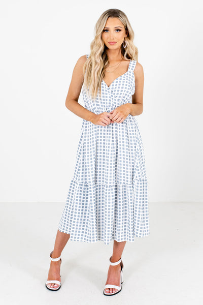 Women's White Tank Style Boutique Midi Dresses