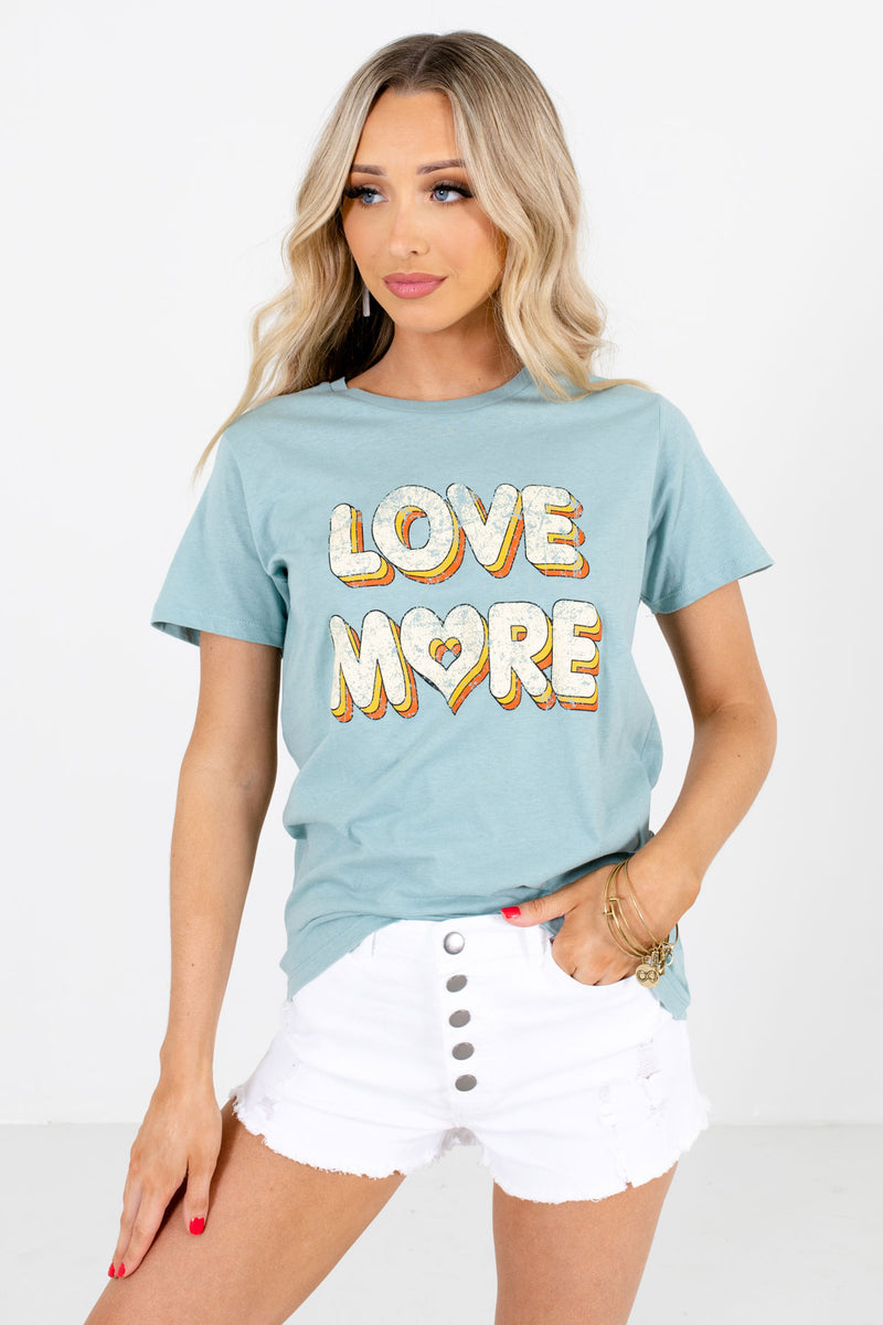 Love More Blue Graphic Tee