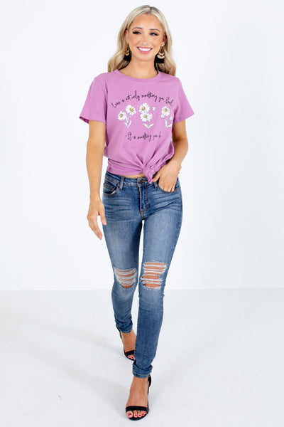 Women's Purple Spring and Summertime Boutique Clothing