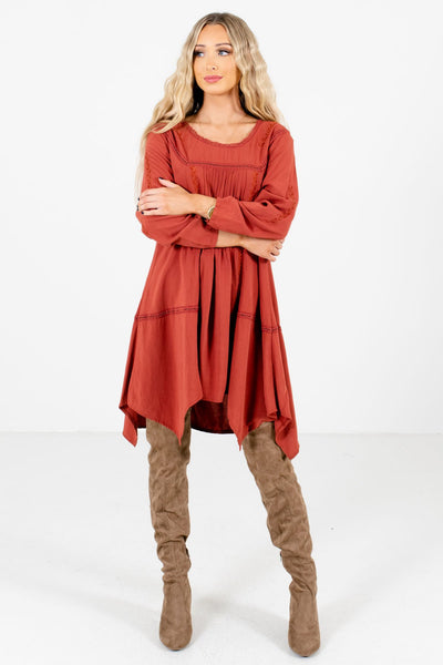 Women's Rust Orange Fall and Winter Boutique Clothing