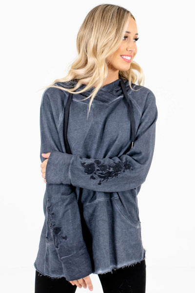 Women's Navy Blue Boutique Outerwear