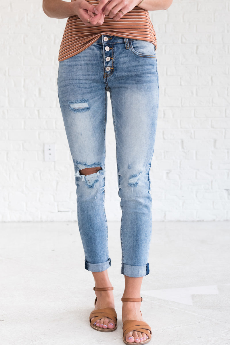 Love That Never Fades Light Wash Blue KanCan Jeans