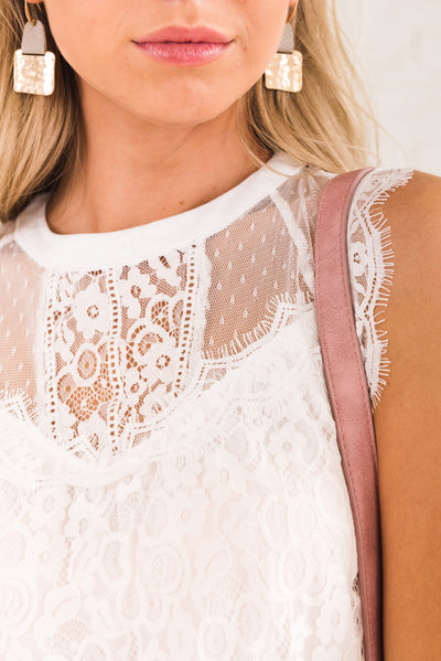 White Lace Affordable Online Boutique Clothing for Women