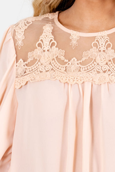 Peach Pink Affordable Online Boutique Blouses for Women