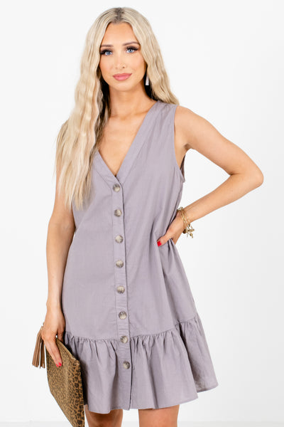 Purple Tank Style Boutique Mini Dresses for Women