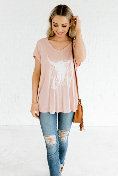 Women's Pink and White Cute and Affordable Boutique Clothing