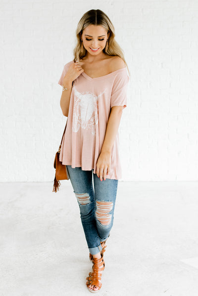 Pink and White Women's Spring and Summertime Boutique Clothing