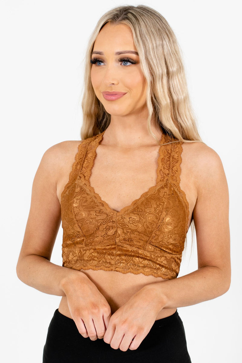 Lover Coffee Brown Lace Bralette