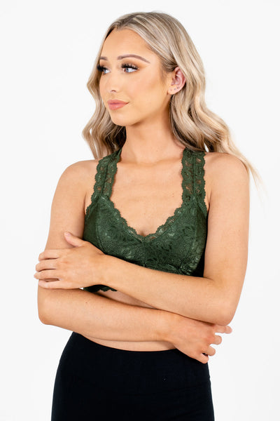 Green Cute and Comfortable Boutique Bralettes for Women