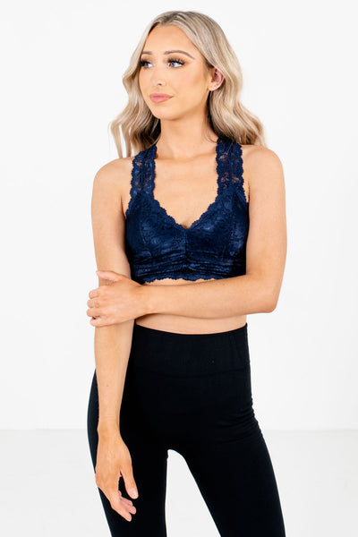 Women's Navy Blue Casual Everyday Boutique Bralette