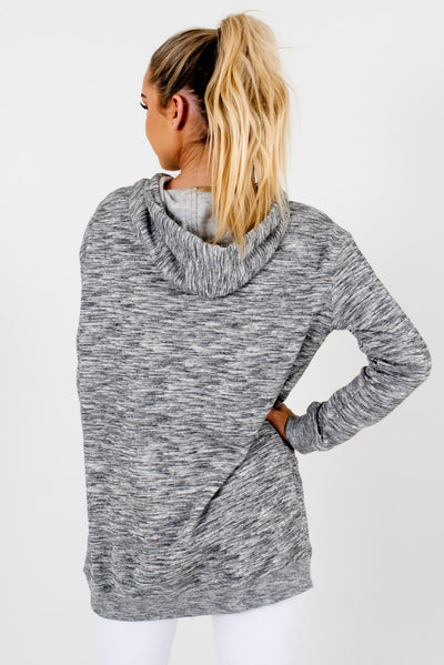 Women's Heather Gray Fleece-Lined Boutique Hoodies