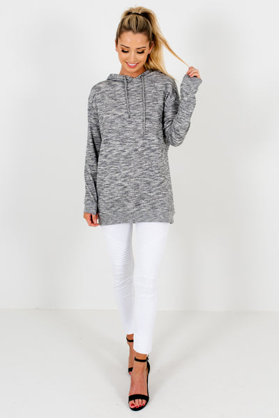 Women's Heather Gray Warm and Cozy Boutique Clothing