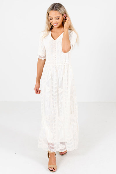 Lucky Ones Lace Maxi Dress