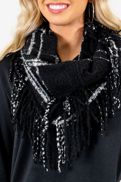 Black Infinity Style Boutique Scarf for Women