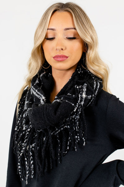 Women's Black Cute and Comfortable Boutique Scarf