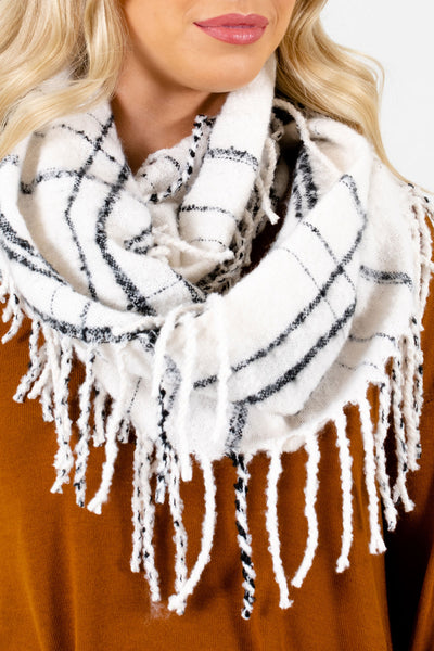 White Infinity Style Boutique Scarf for Women