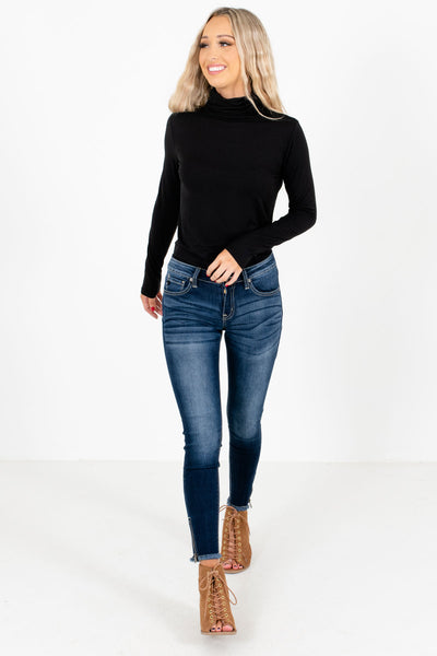 Women's Dark Wash Blue Fall and Winter Boutique Clothing