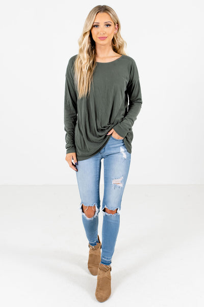 Green Cute and Comfortable Boutique Tops for Women
