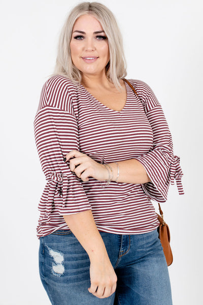 Women's Mauve High-Quality Ribbed Material Boutique Tops