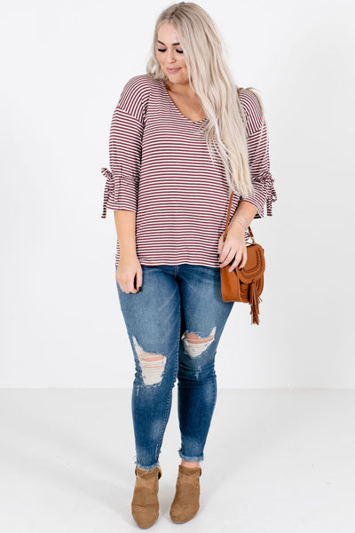 Mauve Cute and Comfortable Boutique Tops for Women