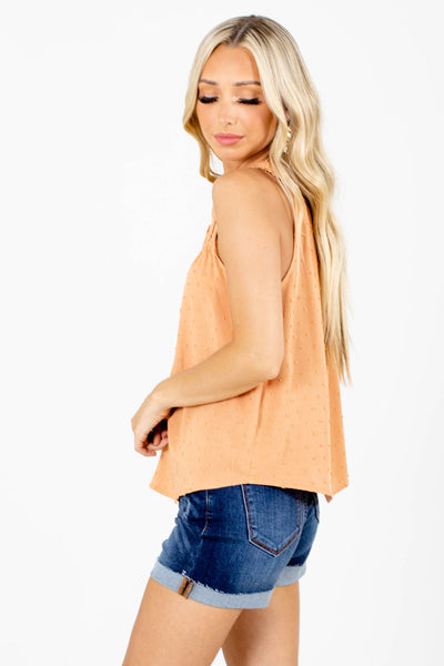Women's Orange Casual Everyday Boutique Tank Top
