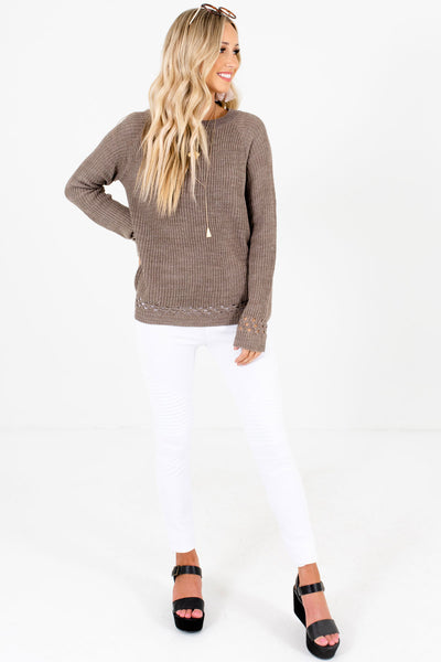 Women's Mocha Brown Fall and Winter Boutique Clothing