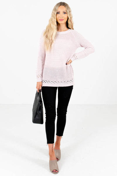 Women's Light Pink Fall and Winter Boutique Clothing