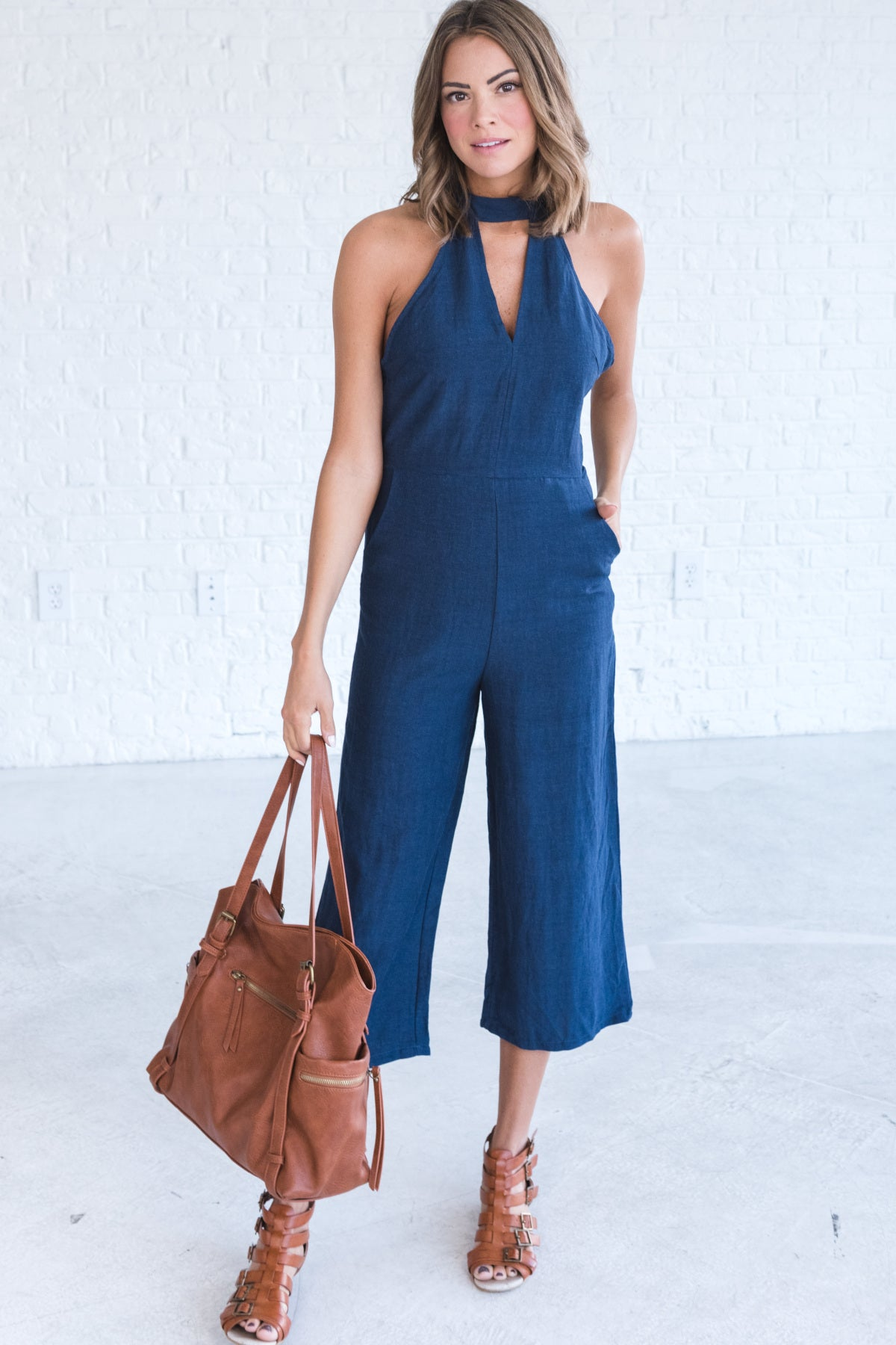 Denim Blue Dressy Jumpsuits for Women