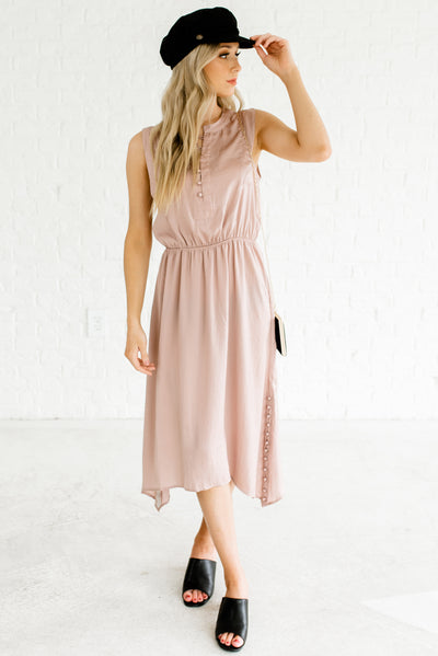 Blush Pink Beige Women's Spring and Summertime Boutique Clothing