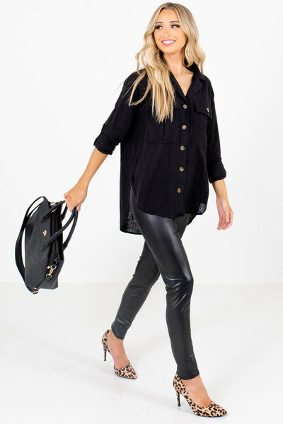 Black Cute and Comfortable Boutique Shirts for Women