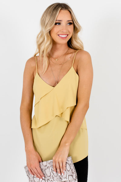 Yellow Cute and Comfortable Boutique Tank Tops for Women
